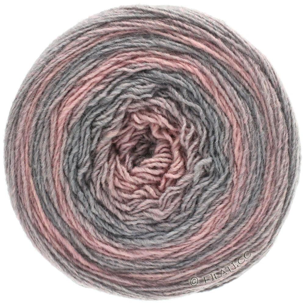 Lana Grossa GOMITOLO 200 Degradé | 303-светло-серый/розовый