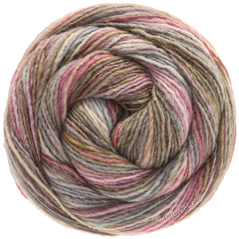 Lana Grossa GOMITOLO 200 | 202-розовый/светло-серый/серо-коричневый