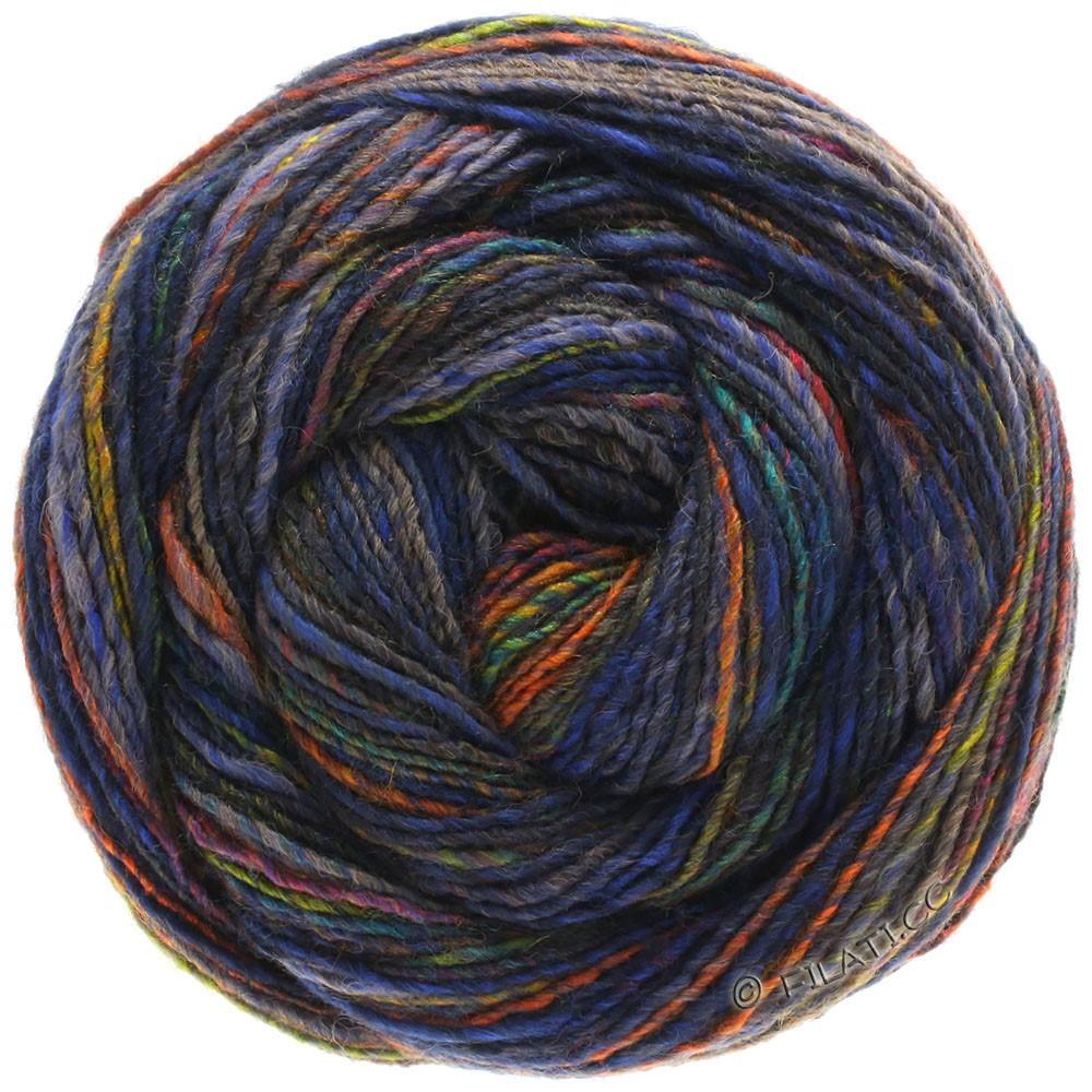 Lana Grossa GOMITOLO 200 | 205-синий/оливковый/медно-коричневый/антрацитовый