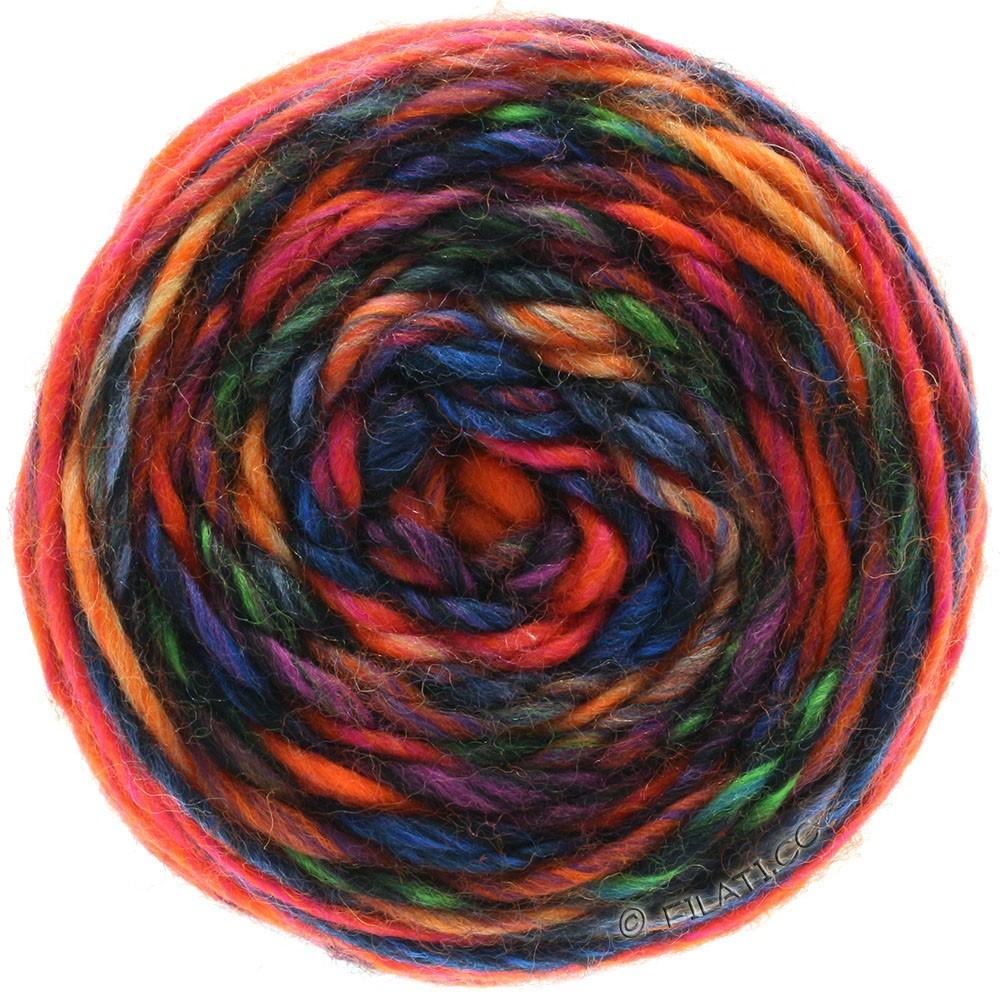 Lana Grossa GOMITOLO Merino | 05-оранжевый/красный/фиолетовый/петроль/синий/чёрный