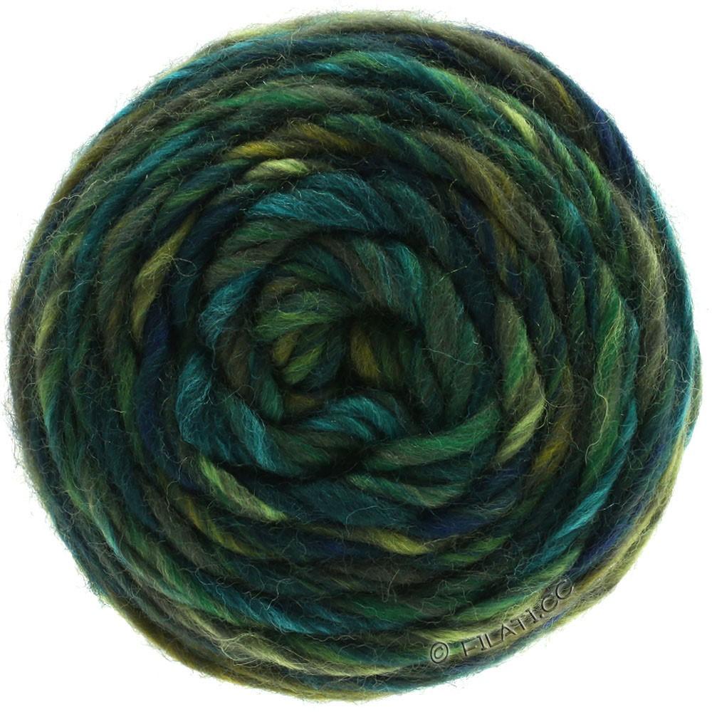 Lana Grossa GOMITOLO Merino | 07-оливковый/мох зеленый /тёмно-синий/петроль