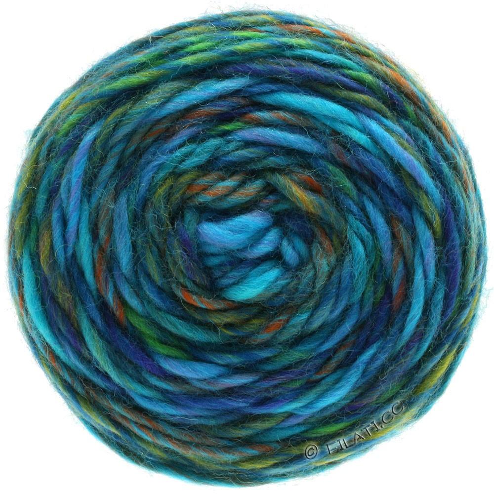Lana Grossa GOMITOLO Merino | 08-сирень/сине-фиолетовый/нефрит/медь