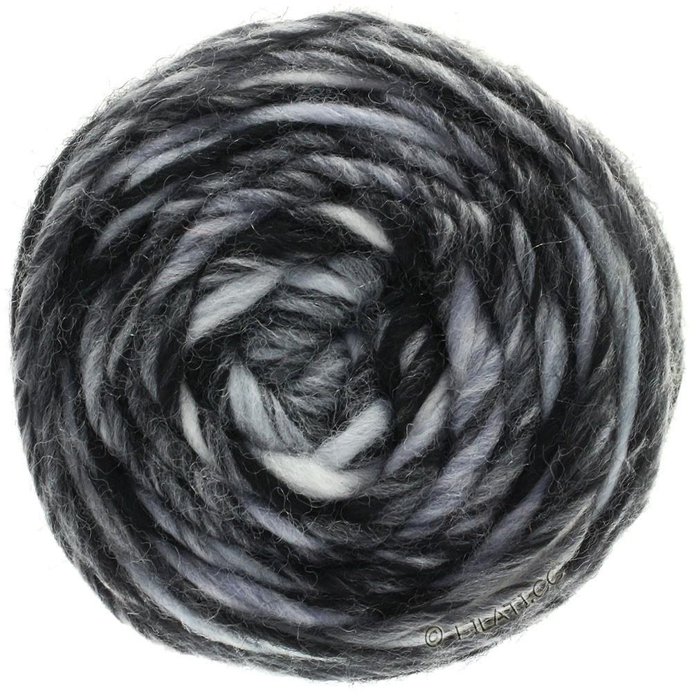 Lana Grossa GOMITOLO Merino | 11-белый/светло-серый/тёмно-серый/чёрный