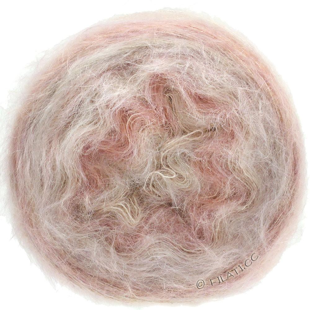 Lana Grossa GOMITOLO SILKHAIR   201-розовый/бежевый меланжевый
