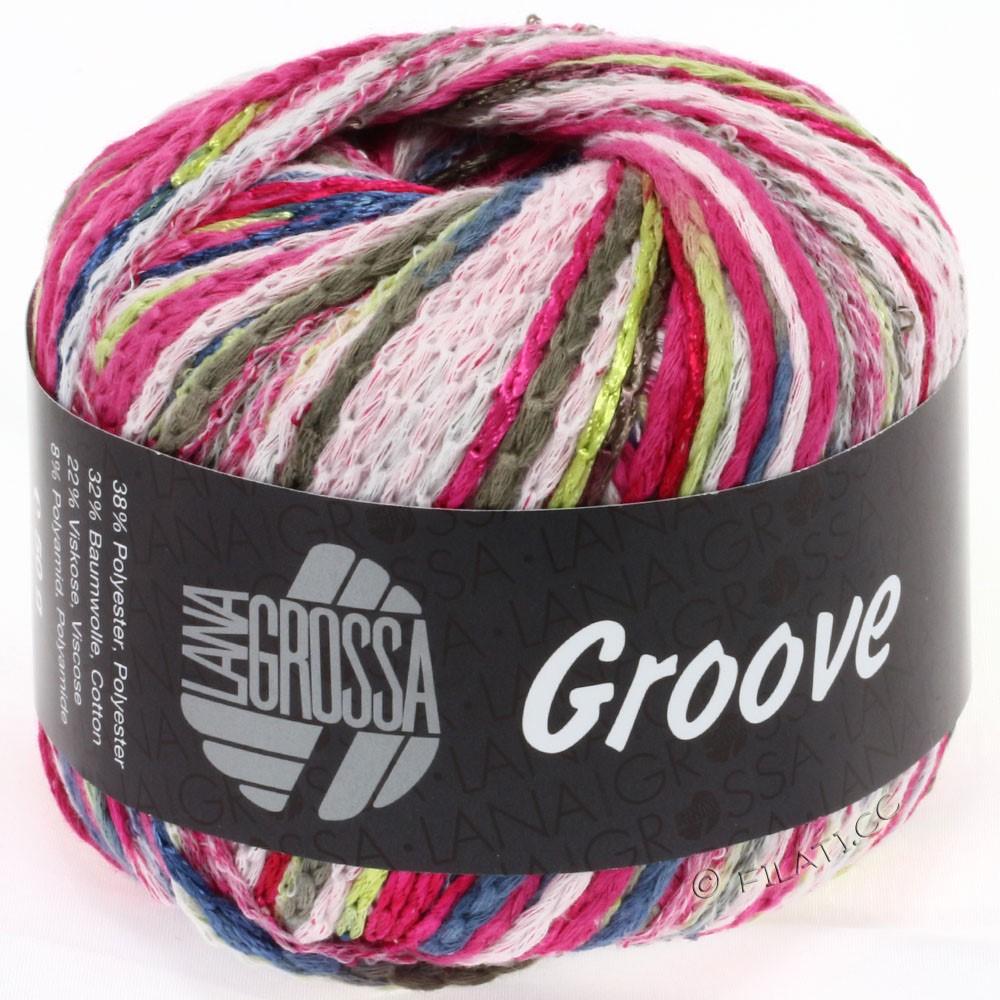 Lana Grossa GROOVE | 10-цикламеновый/белый/чёрно-коричневый/синий