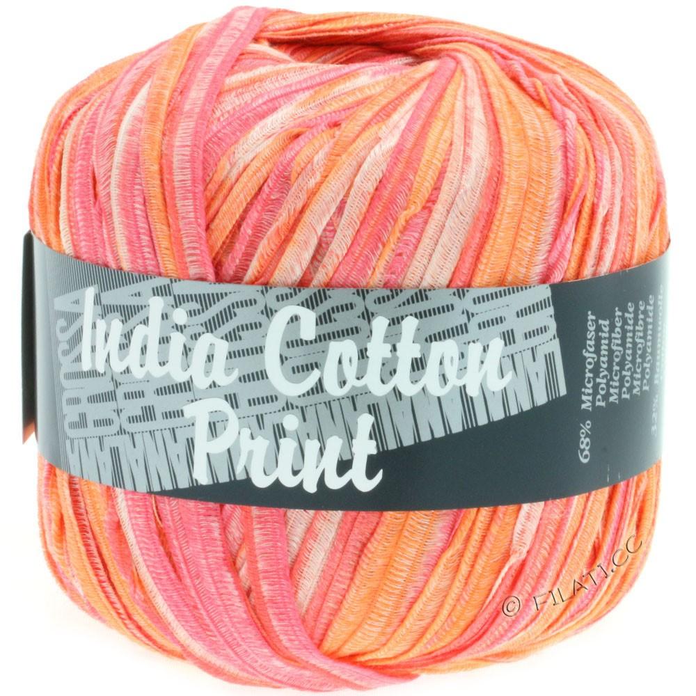 Lana Grossa INDIA Cotton Uni/Print | 301-розовый/оранжевый/белый