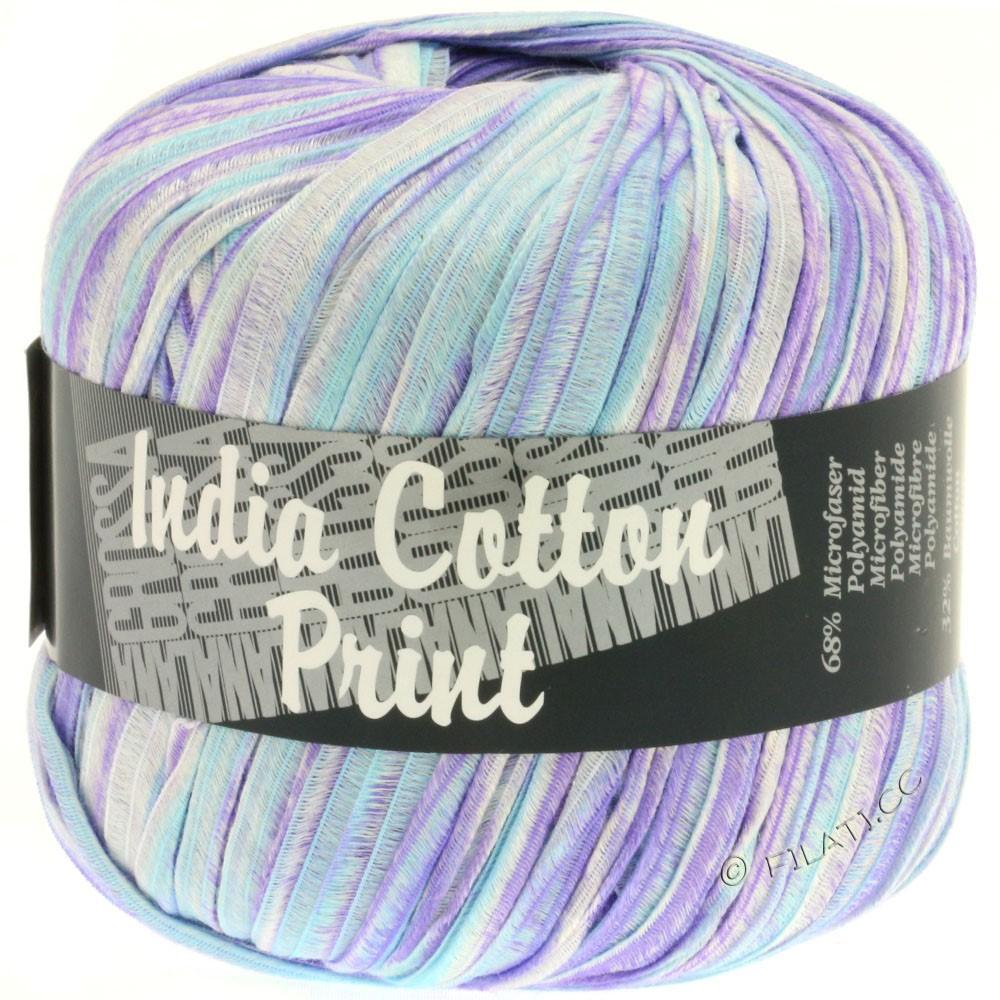 Lana Grossa INDIA Cotton Uni/Print | 304-пурпурный/светло-голубой/белый