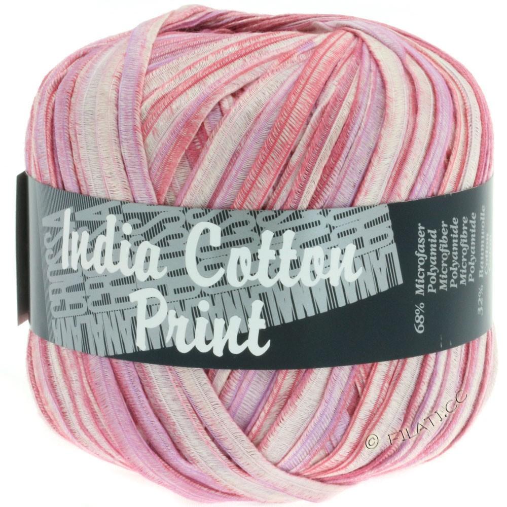 Lana Grossa INDIA Cotton Uni/Print | 305-розовый/пурпурный/белый