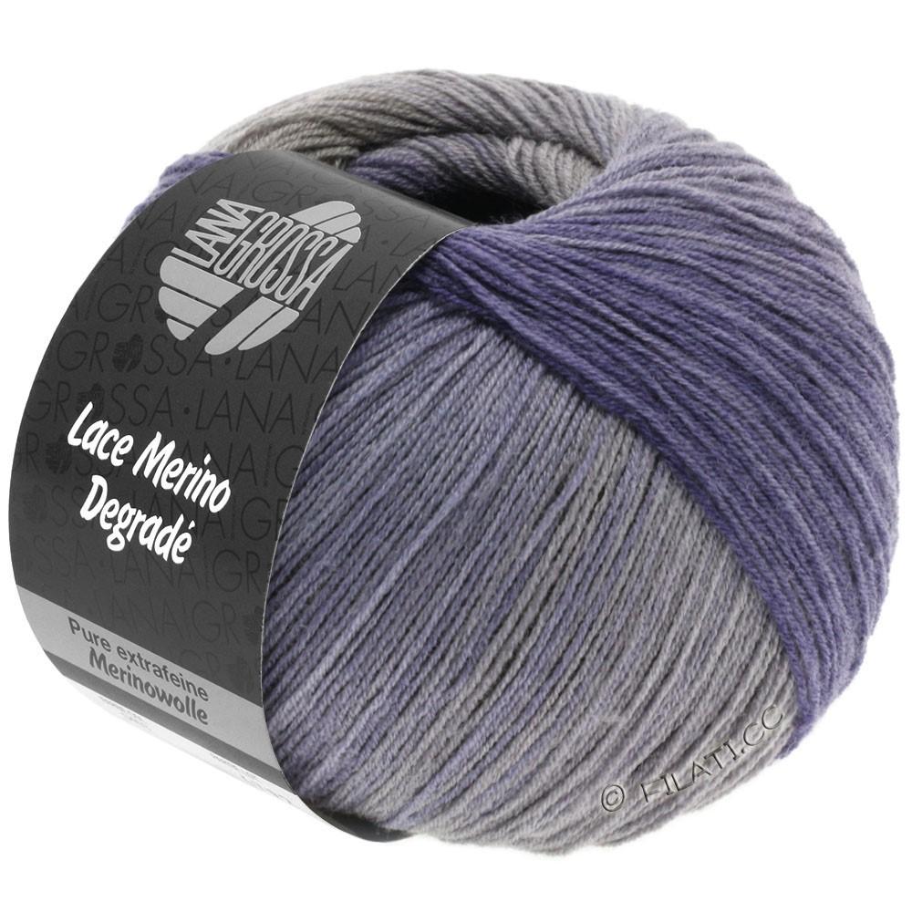 Lana Grossa LACE Merino Degradé | 404-бледно серый/серо-коричневый/серо-фиолетовый