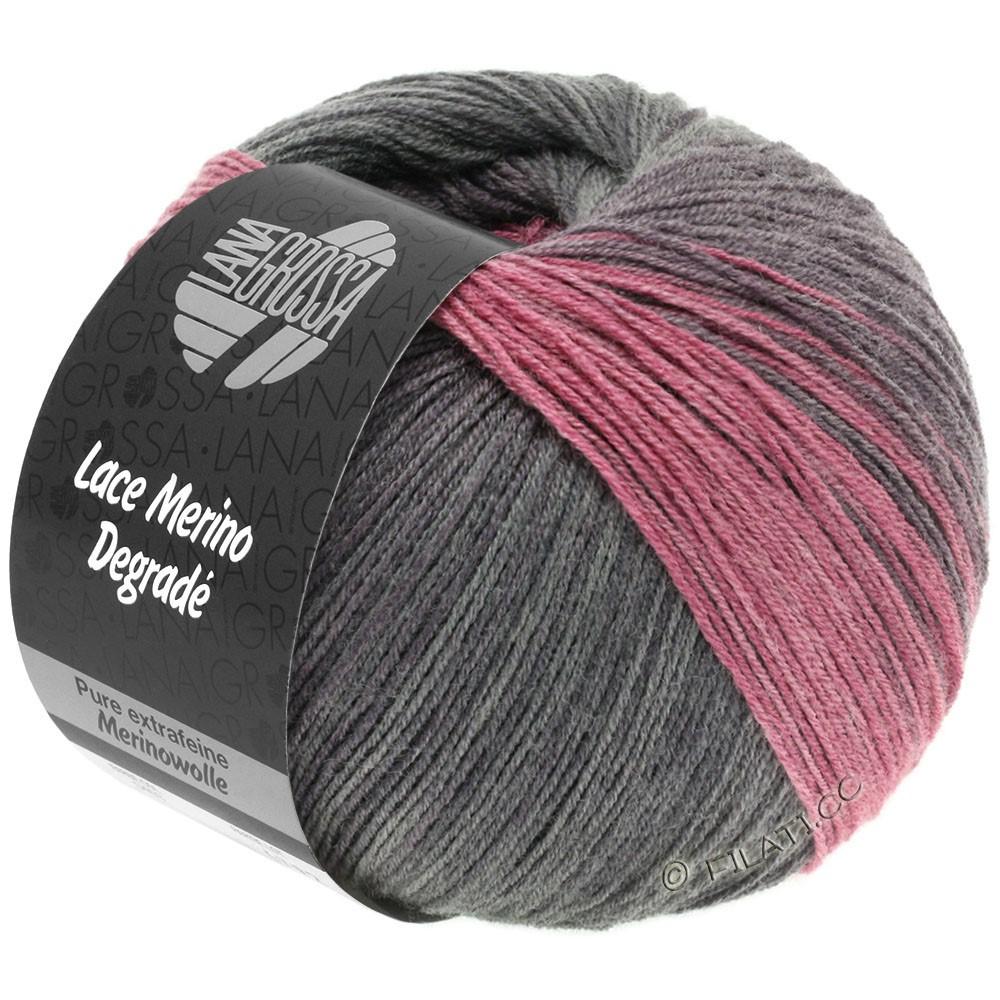 Lana Grossa LACE Merino Degradé | 405-ежевика/антрацитовый/серо-фиолетовый/ветхо-розовый
