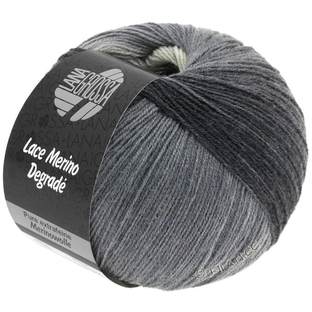Lana Grossa LACE Merino Degradé | 408-светло-серый/средне-серый/тёмно-серый/антрацитовый