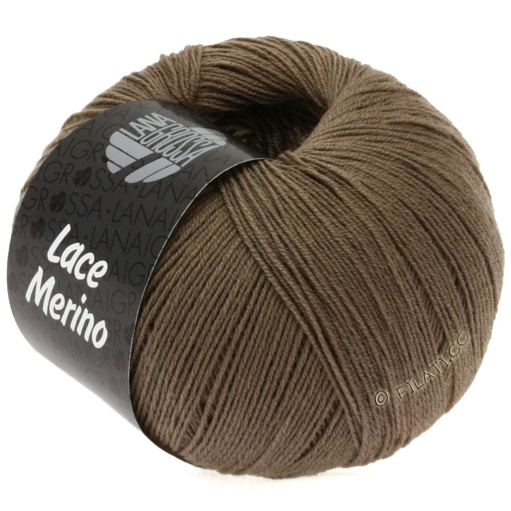 Lana Grossa LACE Merino  Uni уни | 05-серо-коричневый