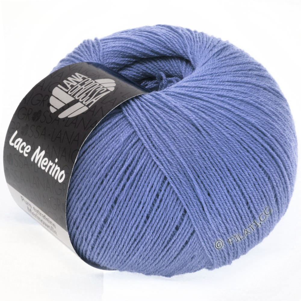 Lana Grossa LACE Merino  Uni уни | 44-синяя фиалка
