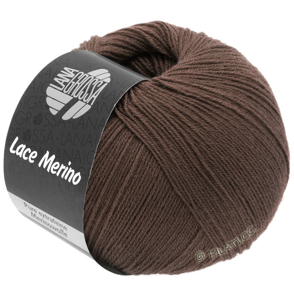 Lana Grossa LACE Merino  Uni уни | 63-коричневый шоколад