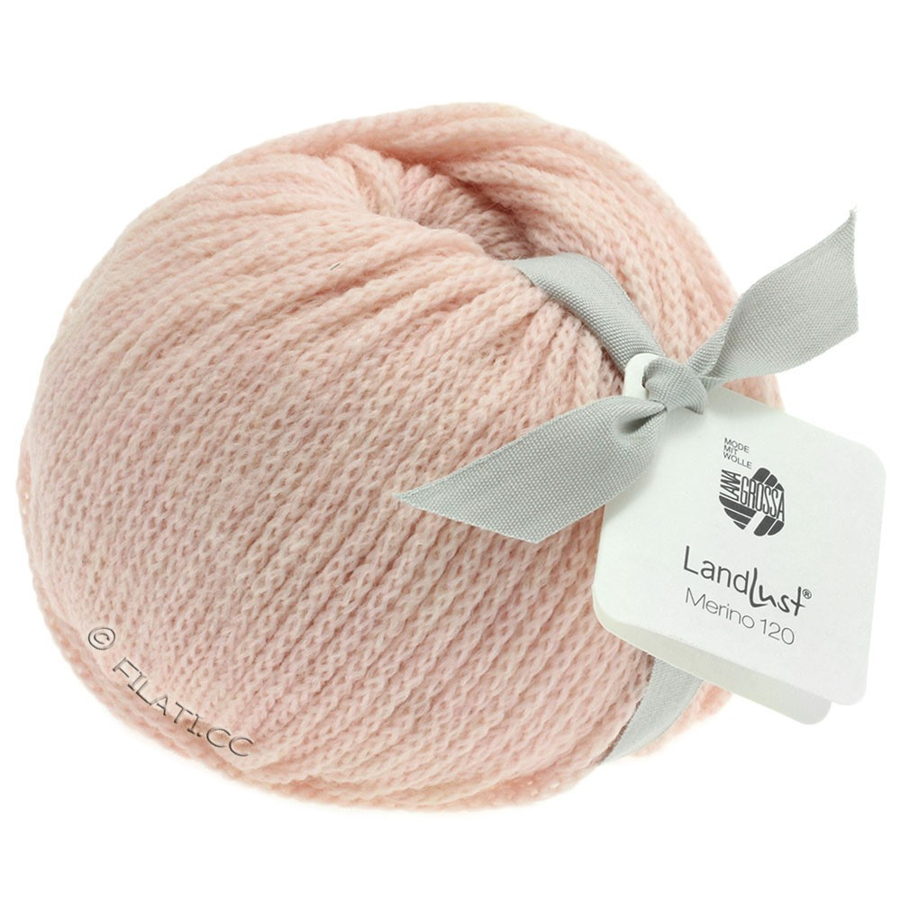 Lana Grossa LANDLUST MERINO 120 | 102-пастельный розовый