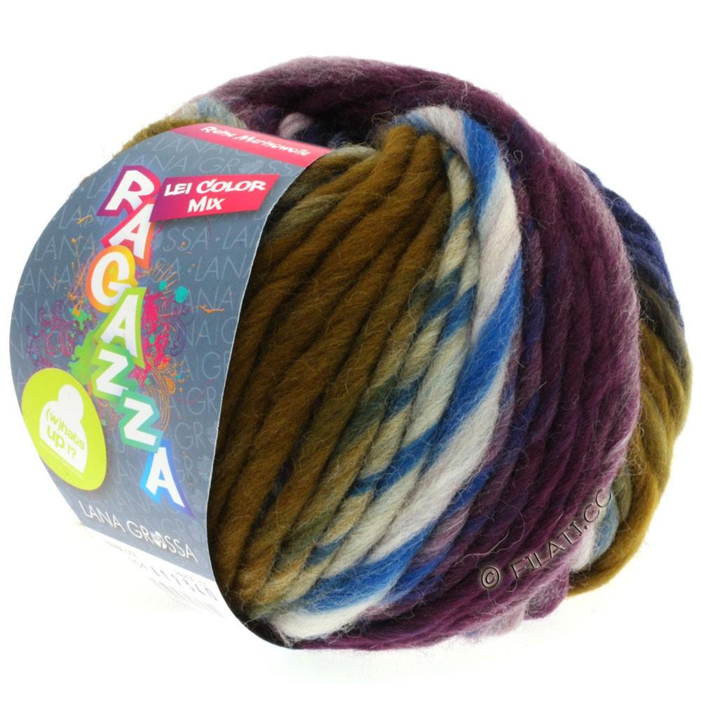 Lana Grossa LEI Moulinè/Color Mix/Spray (Ragazza)   154-натуральный/серый/умбра/чёрно-синий