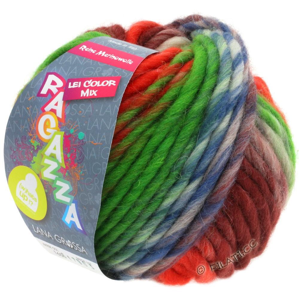 Lana Grossa LEI Moulinè/Color Mix/Spray (Ragazza) | 165-коралловый/зелёный/коричневый/терракотовый/джинс