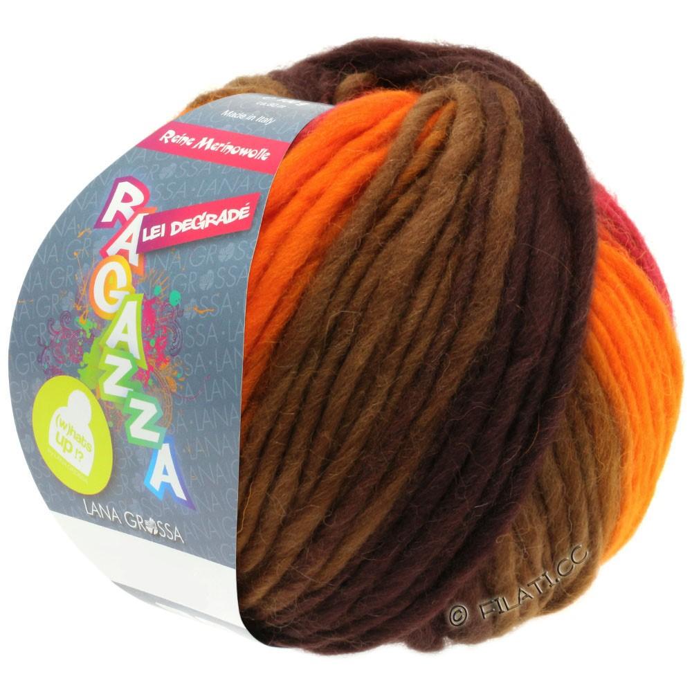 Lana Grossa LEI Degradé (Ragazza) | 506-оранжевый/красный/коричневый