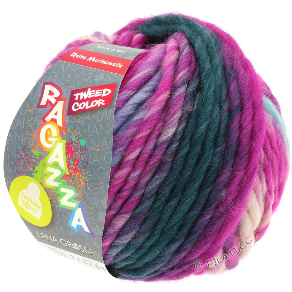 Lana Grossa LEI Tweed Color (Ragazza) | 401-светло-голубой/светло-серый/джинс/цикламеновый меланжевый