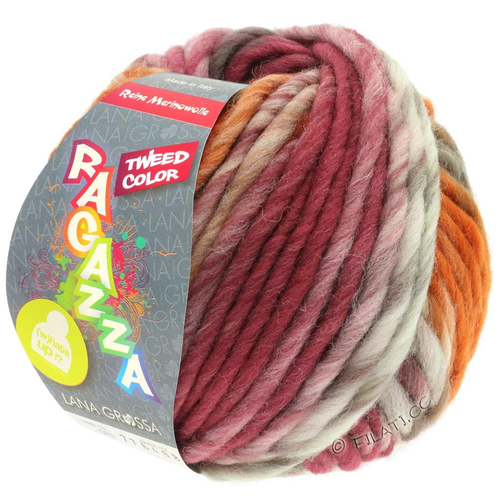 Lana Grossa LEI Tweed Color (Ragazza) | 406-натуральный/серо-коричневый/коричневый шоколад/розовое дерево/коньяка меланжевый