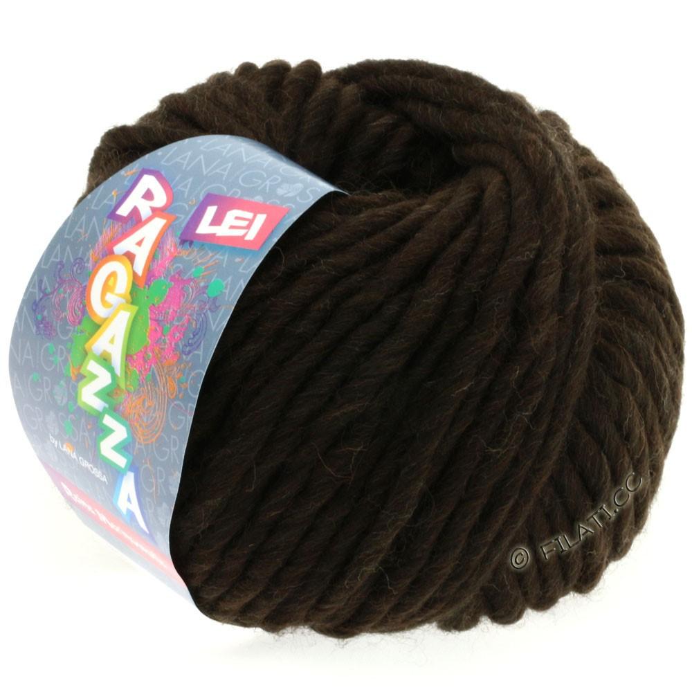 Lana Grossa LEI  Uni/Neon (Ragazza)   060-чёрно-коричневый
