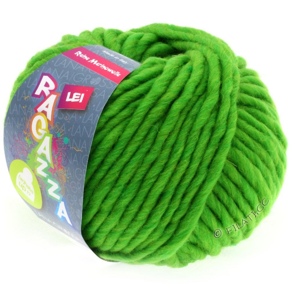 Lana Grossa LEI  Uni/Neon (Ragazza) | 061-ярко-зелёный меланжевый
