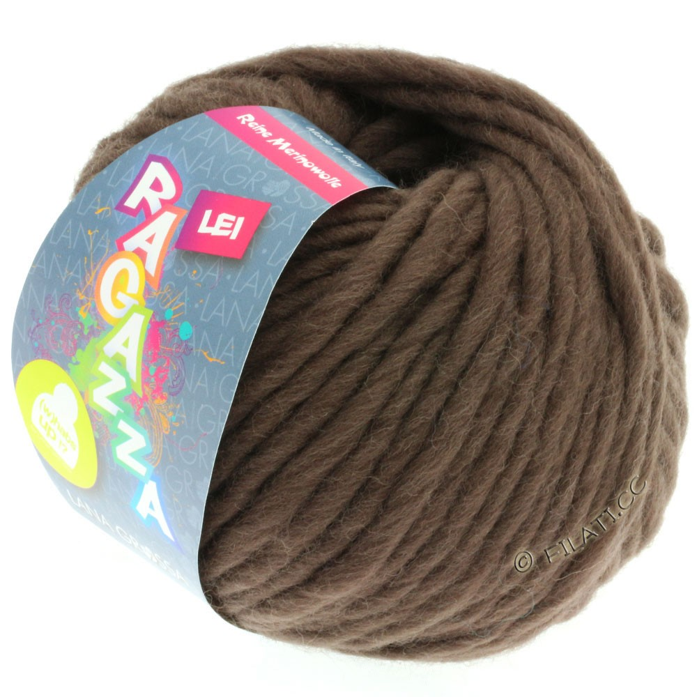 Lana Grossa LEI  Uni/Neon (Ragazza) | 064-серо-коричневый