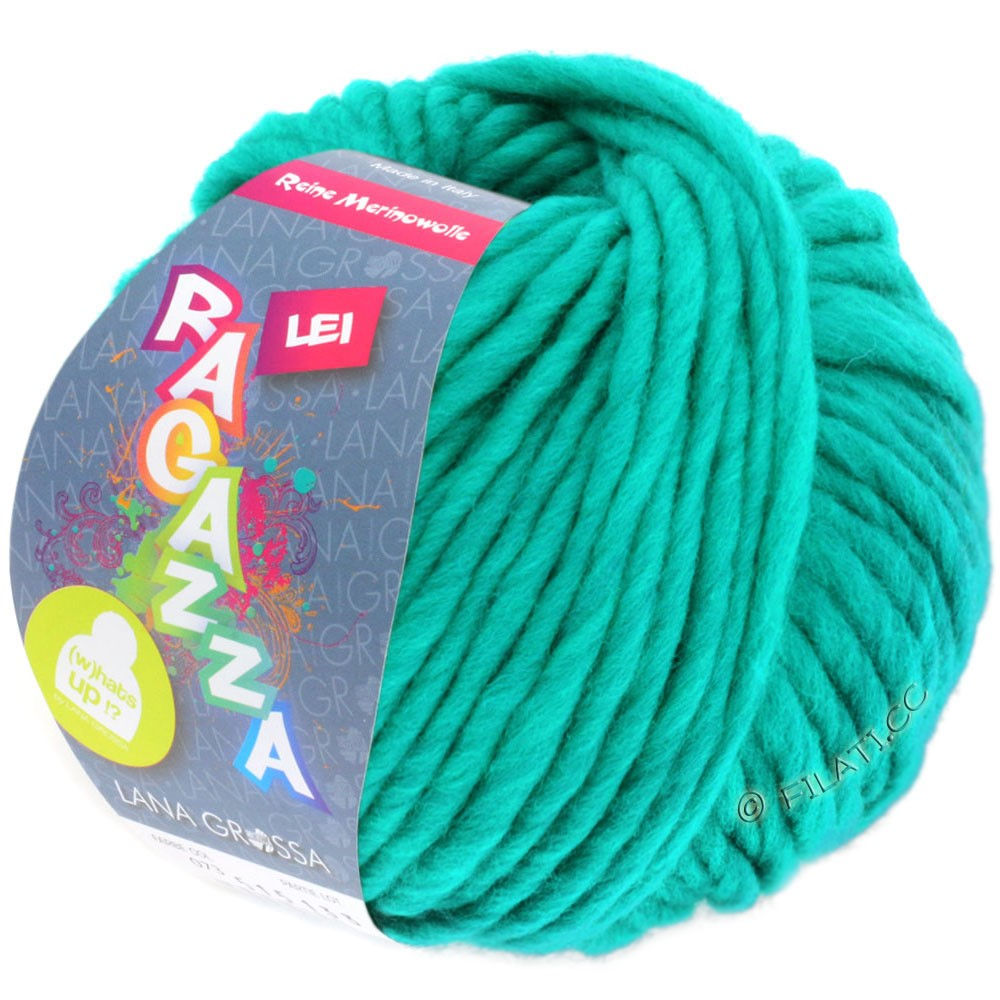 Lana Grossa LEI  Uni/Neon (Ragazza) | 076-зелено-бирюзовый