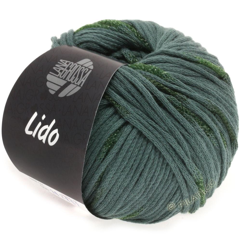 Lana Grossa LIDO | 09-серо-зеленый/тёмно-зелёный