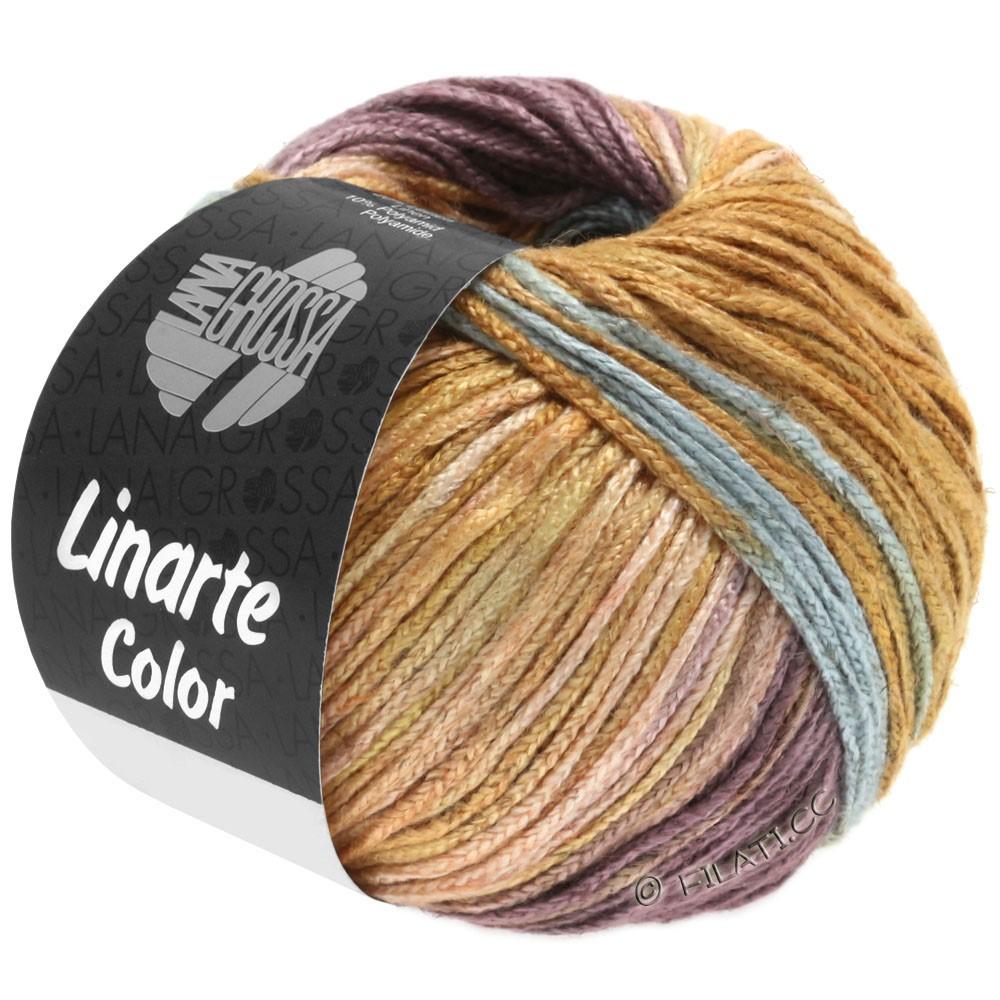 Lana Grossa LINARTE Color | 201-мятно-бирюзовый/бежево-красный/старо-фиолетовый/коричневая охра