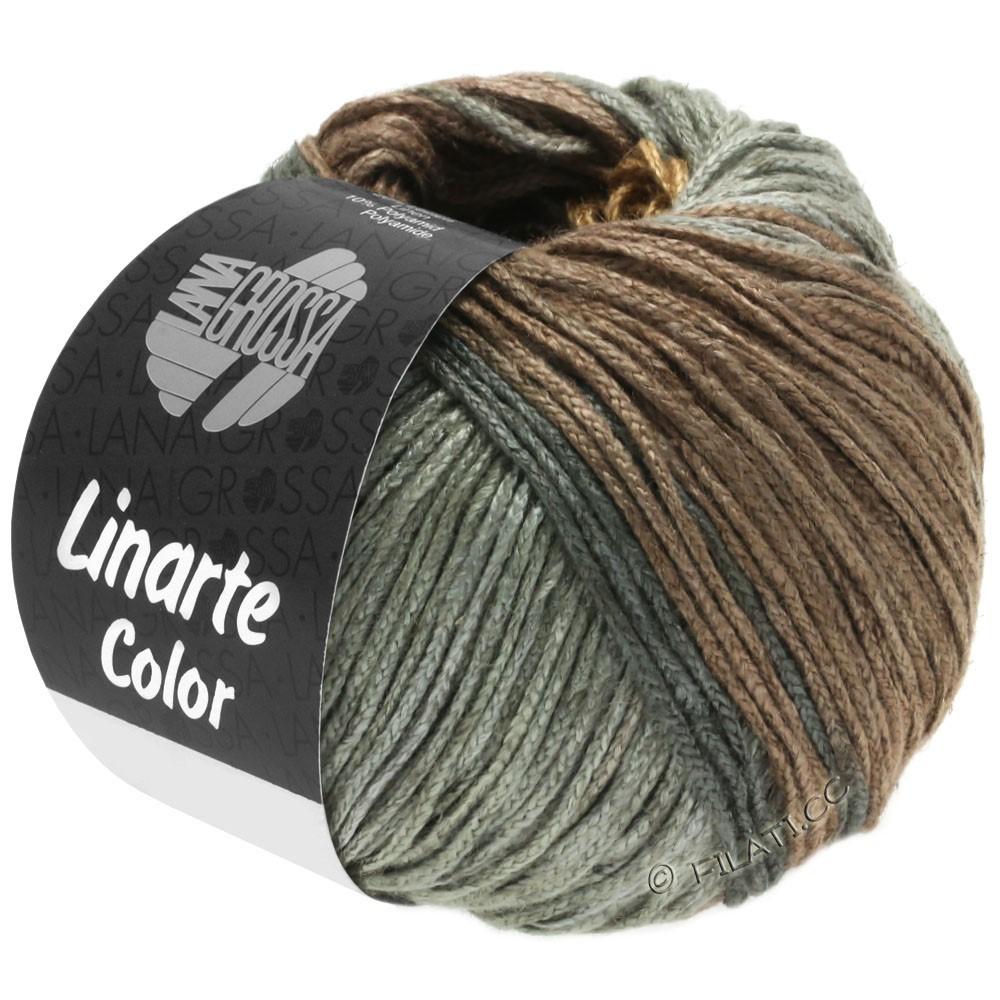 Lana Grossa LINARTE Color | 202-оливково-коричневый/махагони/серая умбра/графит серый
