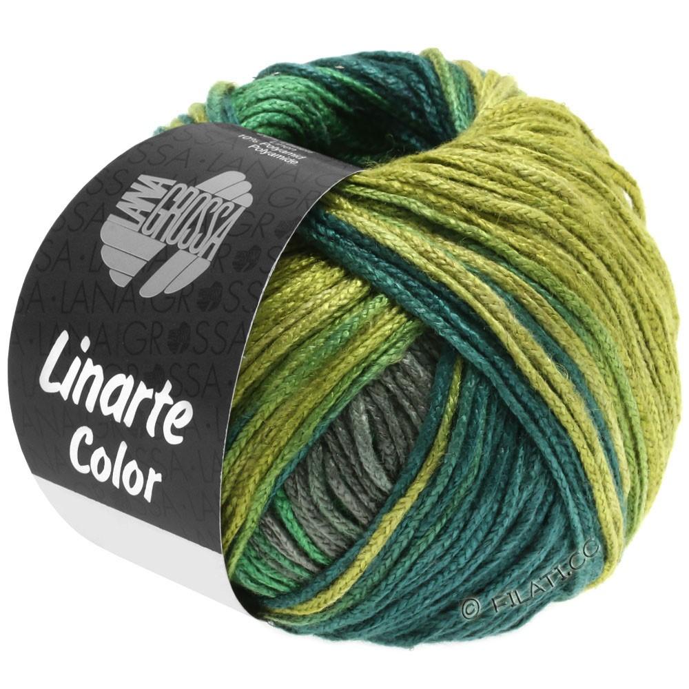 Lana Grossa LINARTE Color | 205-тростник зеленый/мох зеленый /зелено-бирюзовый/графит серый
