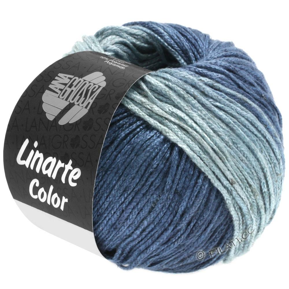 Lana Grossa LINARTE Color | 206-светло синий/серо-голубой/синий океан/джинс
