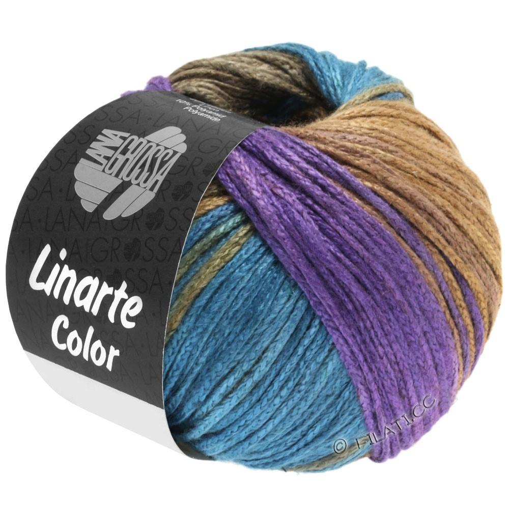 Lana Grossa LINARTE Color   208-фиолетовый/петроль/хаки/желтый песок