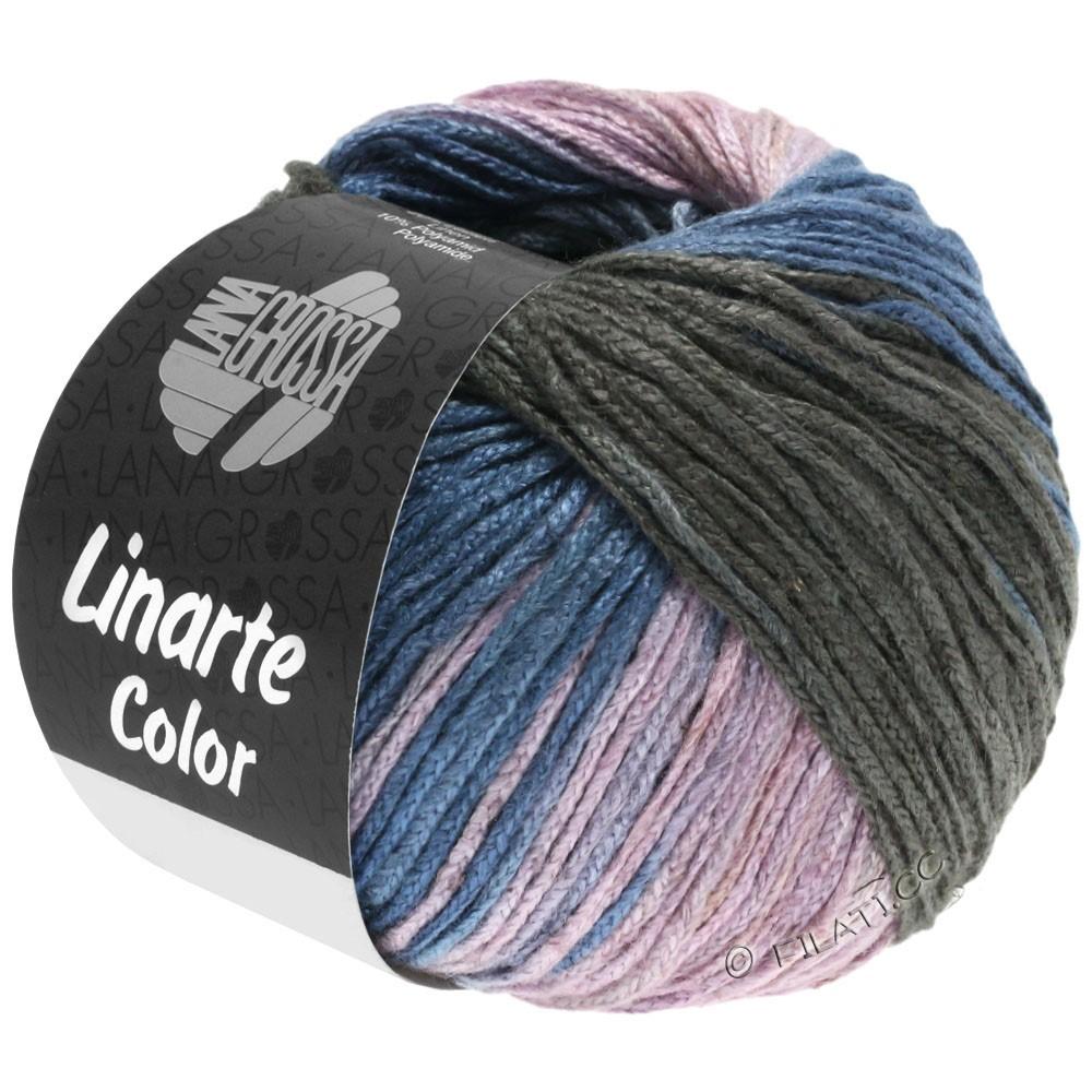 Lana Grossa LINARTE Color   209-серо-синий/графит/розовый/хаки