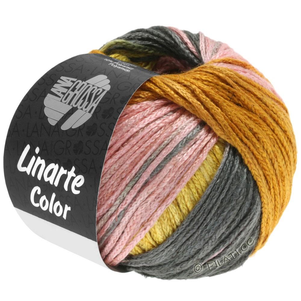 Lana Grossa LINARTE Color   210-желтый дрок/золотой/персик/хаки