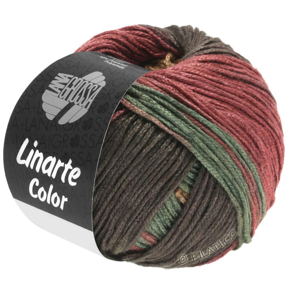 Lana Grossa LINARTE Color   211-кофе мокко/песок/красно-коричневый/зелёный