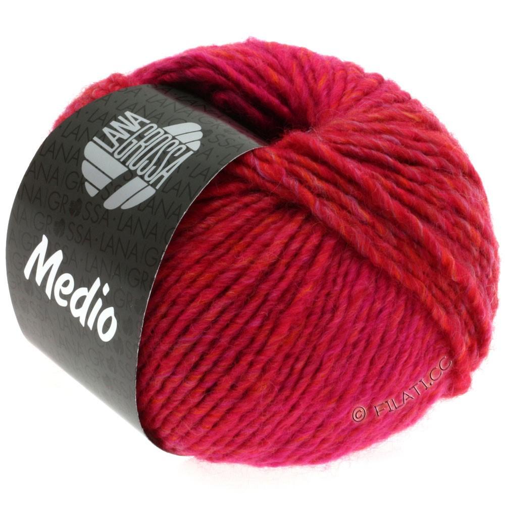 Lana Grossa MEDIO | 11-малиновый/цикламеновый/красная вишня/оранжевый/хаки/бордо
