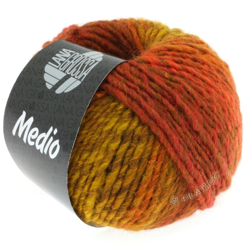 Lana Grossa MEDIO | 14-жёлтая кукуруза/коричневый /кофе мокко/коричневый цвет корицы/цвет ржавчины