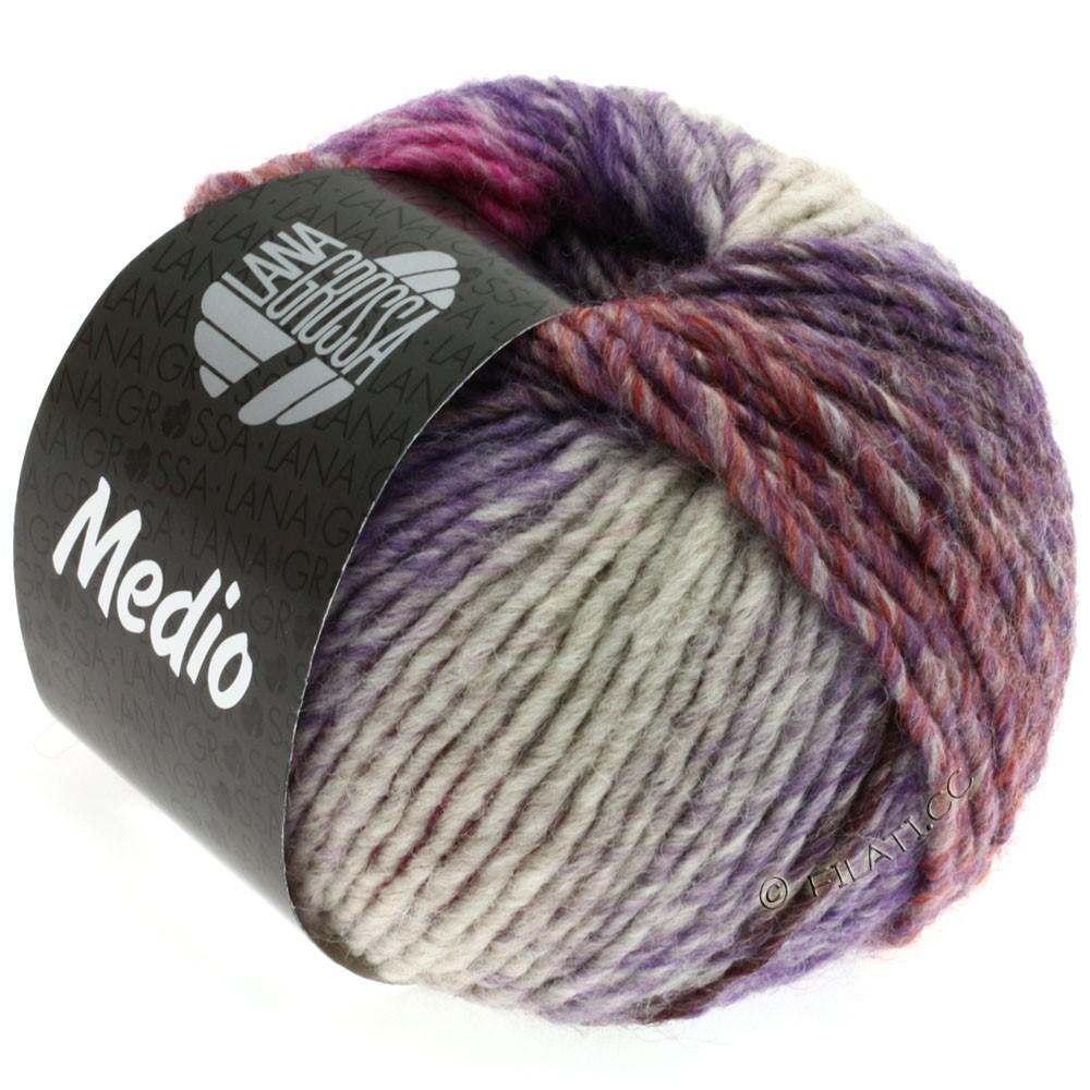 Lana Grossa MEDIO | 17-баклажановый/ежевика/пурпурный/пинк/розовое дерево/серый/оранжевый/натуральный