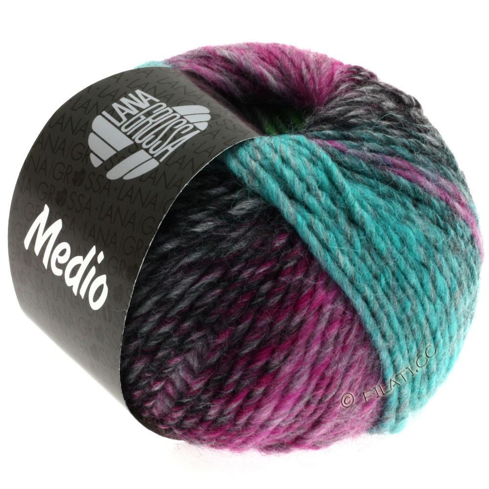 Lana Grossa MEDIO | 21-цикламеновый/светло-голубой/грязь/серый/бирюзовый/пастельно-зелёный/пинк