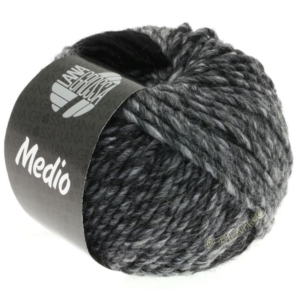 Lana Grossa MEDIO | 29-серый/графит/белый/антрацитовый/светло-серый