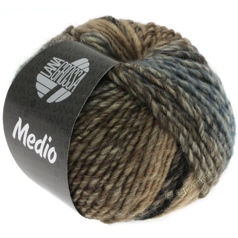 Lana Grossa MEDIO | 30-тёмно-синий /тёмно-серый/серо- бежевый/серо-коричневый/джинс/натуральный/розовый/петроль