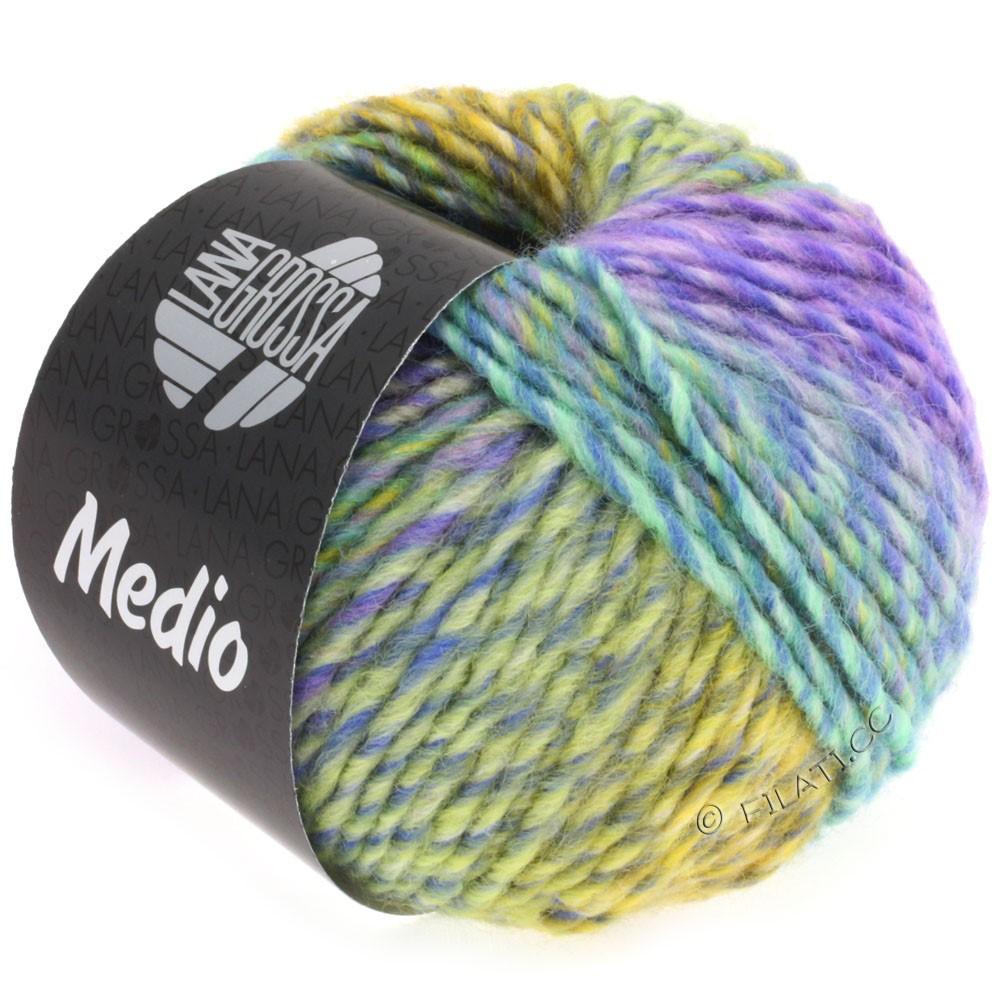 Lana Grossa MEDIO | 31-синий/бирюзовый/розовый/сирень/жёлтый/серо-зеленый/петроль