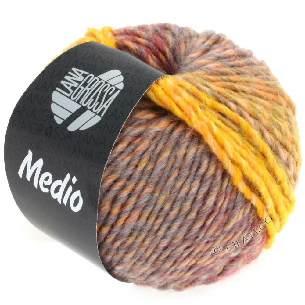 Lana Grossa MEDIO | 35-жёлтый/серый/розовый/красный/тёмно-серый/натуральный