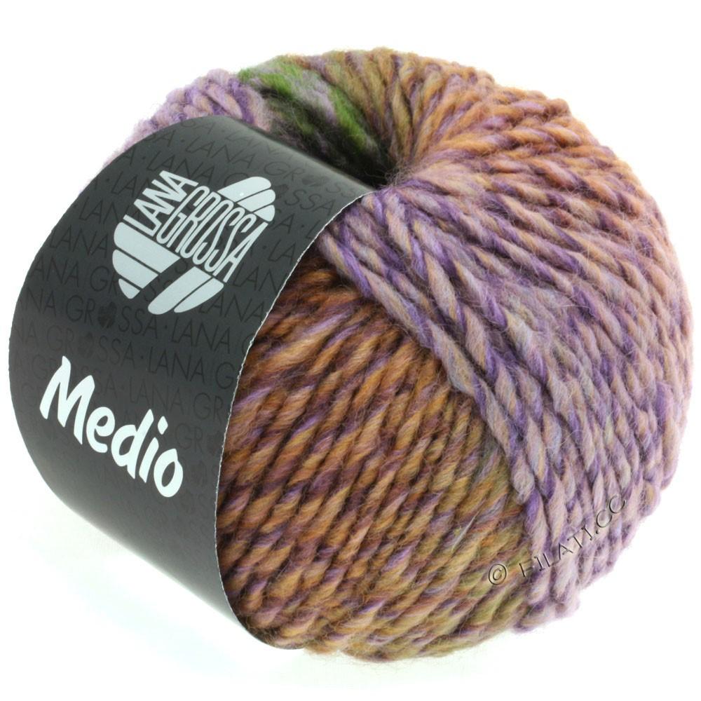 Lana Grossa MEDIO | 36-пурпурно-серый/розовый/тёмно-зелёный/сине-фиолетовый/сирень