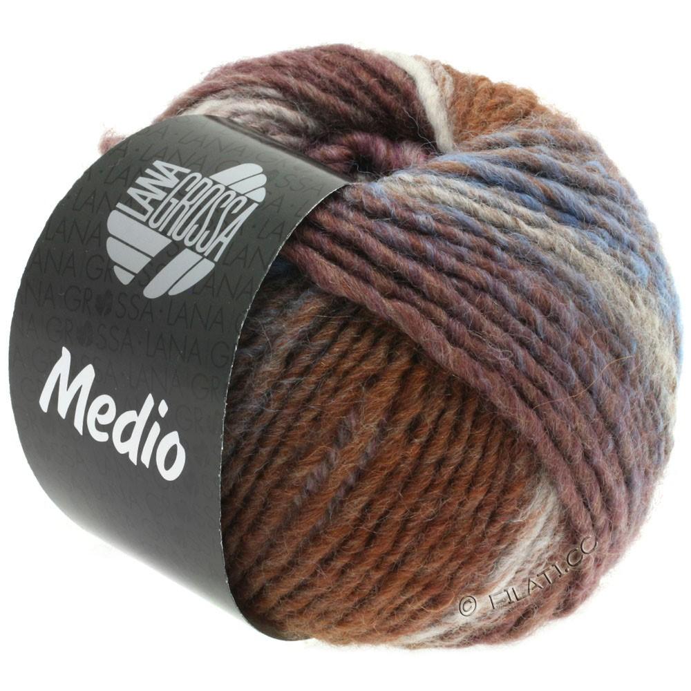 Lana Grossa MEDIO | 37-серо-коричневый/розовый/натуральный/серо-коричневый/сирень