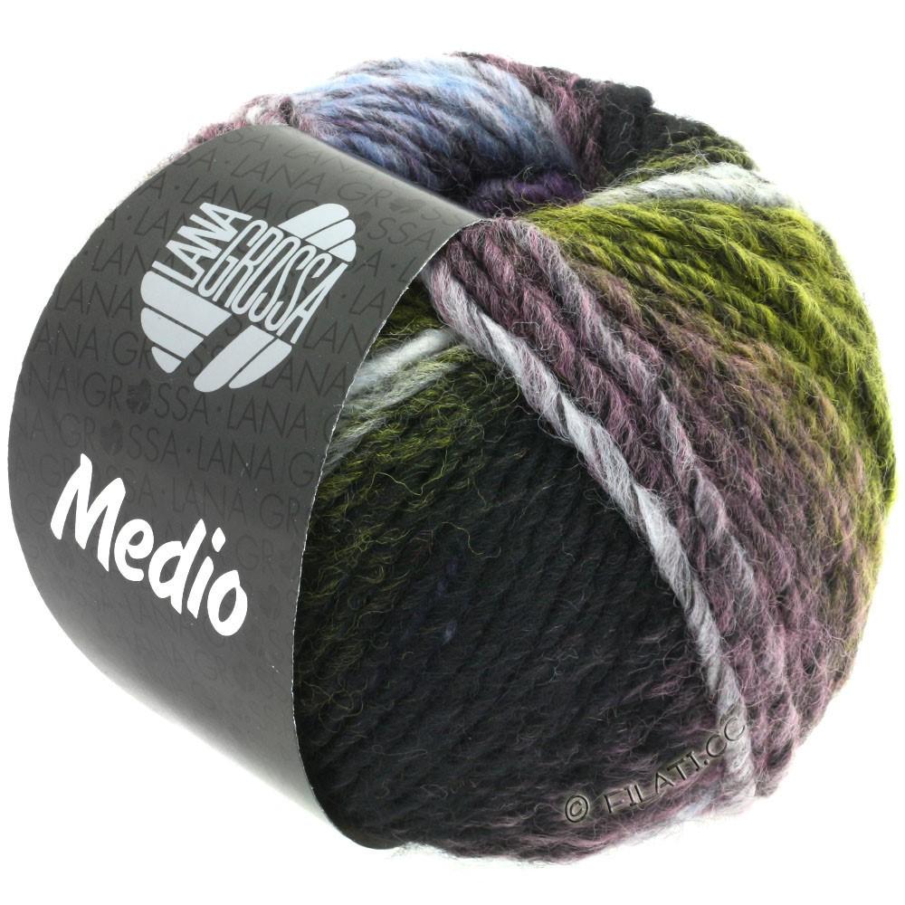 Lana Grossa MEDIO | 38-жёлтый/антрацитовый/чисто-белый/сирень/светло-голубой/персик/мох зеленый