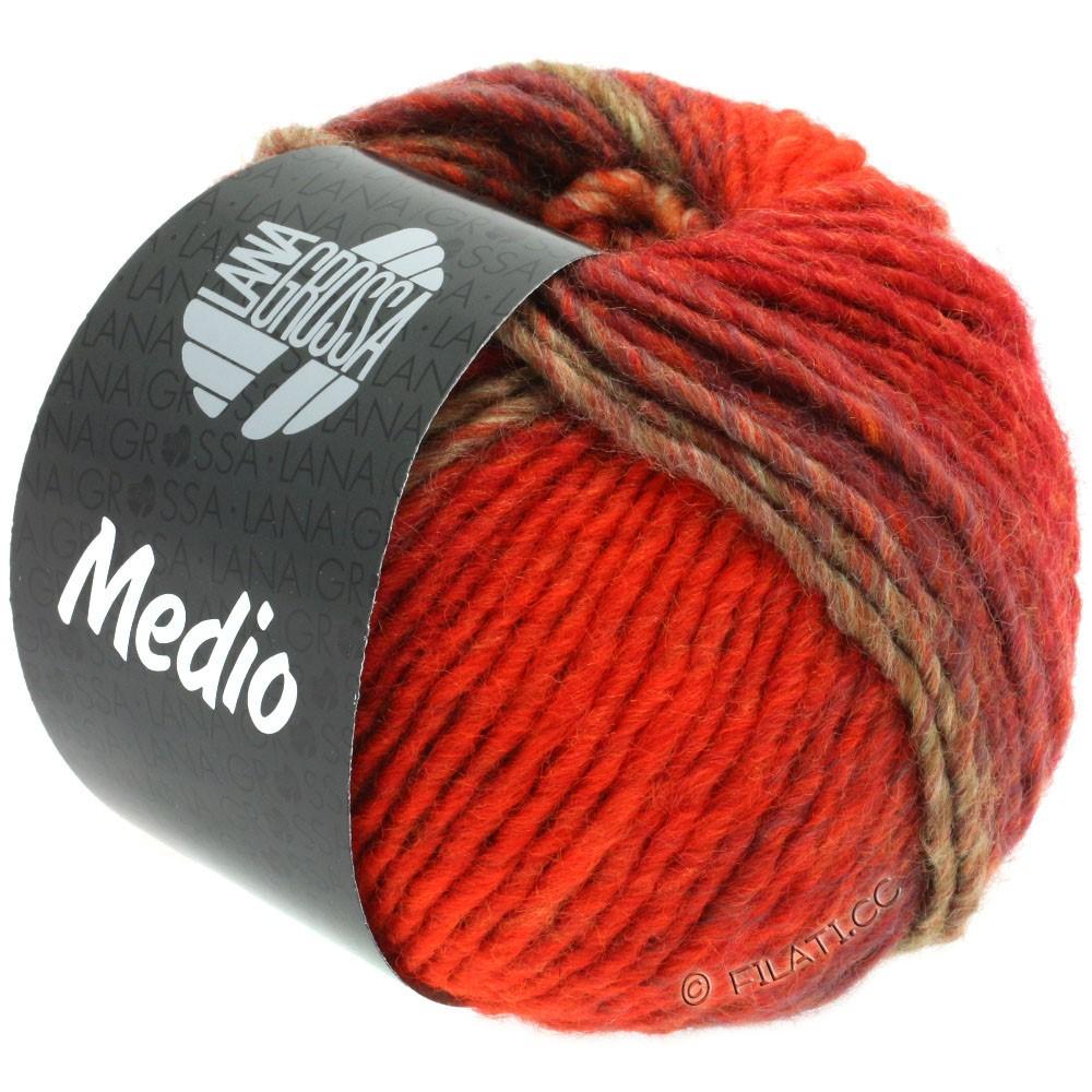 Lana Grossa MEDIO | 42-красный/бордо/зеленый серый/сирень/оранжевый