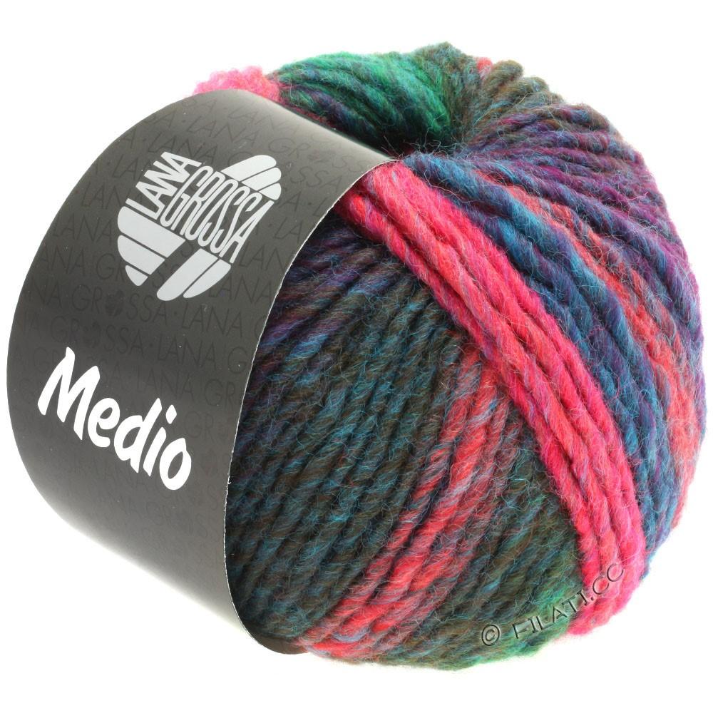 Lana Grossa MEDIO | 43-петроль/нефритово-зеленый/пинк/оливковый/малиновый/светло-голубой